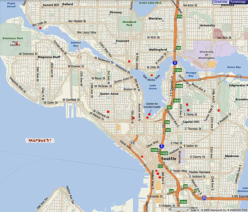 Seattle Map – Seattle Tourist Attractions Map